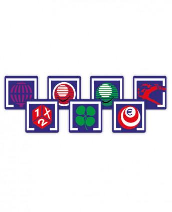 Imagen 1 del producto Juego de Logotipos Adhesivos Impresos - Modelo Azul