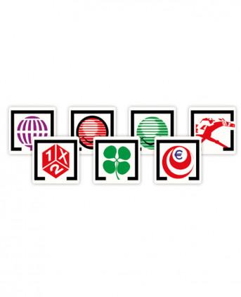 Imagen 1 del producto Juego de Logotipos Adhesivos Impresos - Modelo Blanco