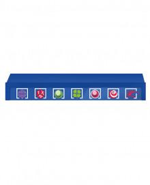 Encimera Azul Modelo 1 - Largo 100cm - para adm. de lotería