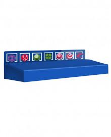 Encimera Azul Modelo 2 - Largo 100cm - para adm. de lotería
