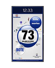 """Monitor 32"""" de Resultados y Botes"""