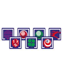 Juego de Logotipos Adhesivos Impresos - Modelo Azul